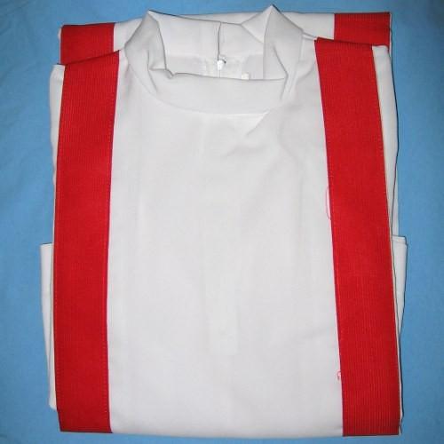 Tarcisiana bordo rosso - tunica chierichetto