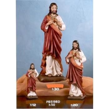 Statua Sacro Cuore Gesù cm 50