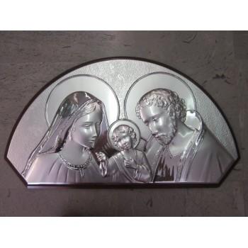 Quadro S. Famiglia argento, classico arco