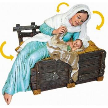 Statua Madonna con Bambino 30cm