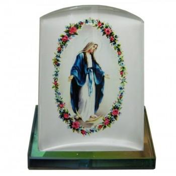 Madonna Miracolosa Piedistallo in Vetro