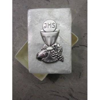 Box argento e madreperla Prima Comunione