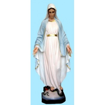 Madonna Miracolosa 120cm resina italiana