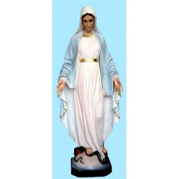 Statua Madonna Immacolata dipinta a mano resina 120cm